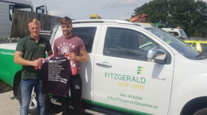 Sponsor of Colin Ryan, Limerick Senior Hurler,  representing Limerick and Munster in the All-Ireland  Poc Fada.